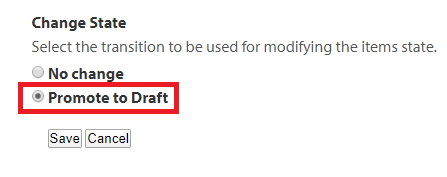 Google Doc Promote to Draft