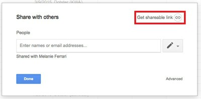 Google Docs Get Sharable Link