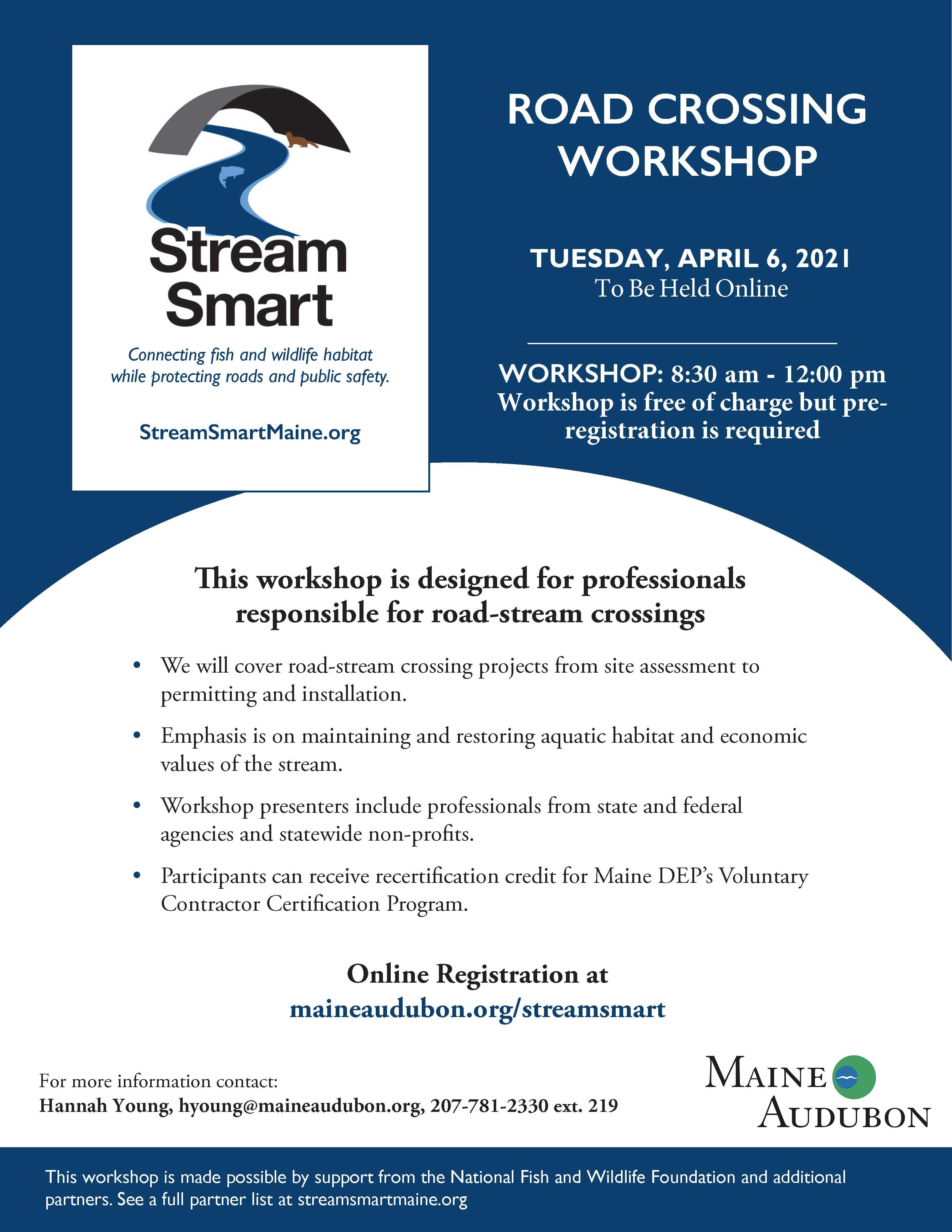Maine Audubon: Stream Smart Workshop