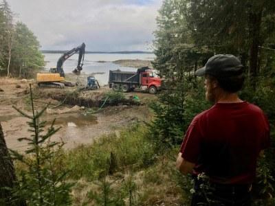 DSF Removes Dam on Smelt Brook, in Sullivan!