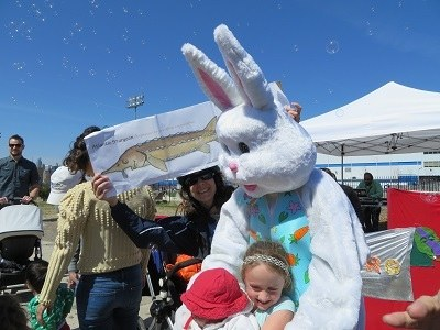 Easter bunny and flat fish!