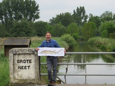 TNC's Josh migrates with fish to Belgium
