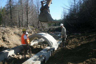 Staff and Partners Assist in Culvert Installation