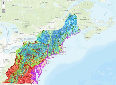 Extending the Northeast Aquatic Habitat Map to Canada