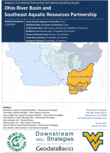 Example Report: Habitat Modeling Report for the Ohio River Basin and Southeast Aquatic Resources Partnerships