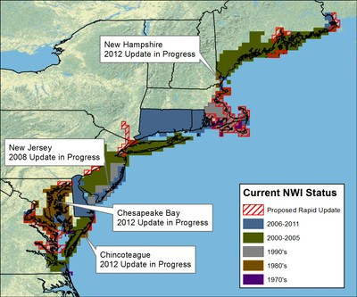 Coastal Update to the National Wetlands Inventory