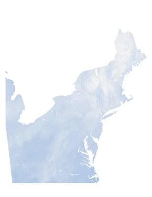 Average November-March Snow Depth (mm), Northeast