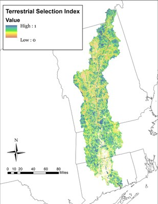 Terrestrial Ecosystem-Based Core Area Selection Index