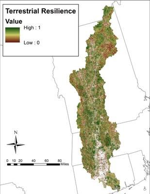 TNC Terrestrial Resiliency, CT River Watershed