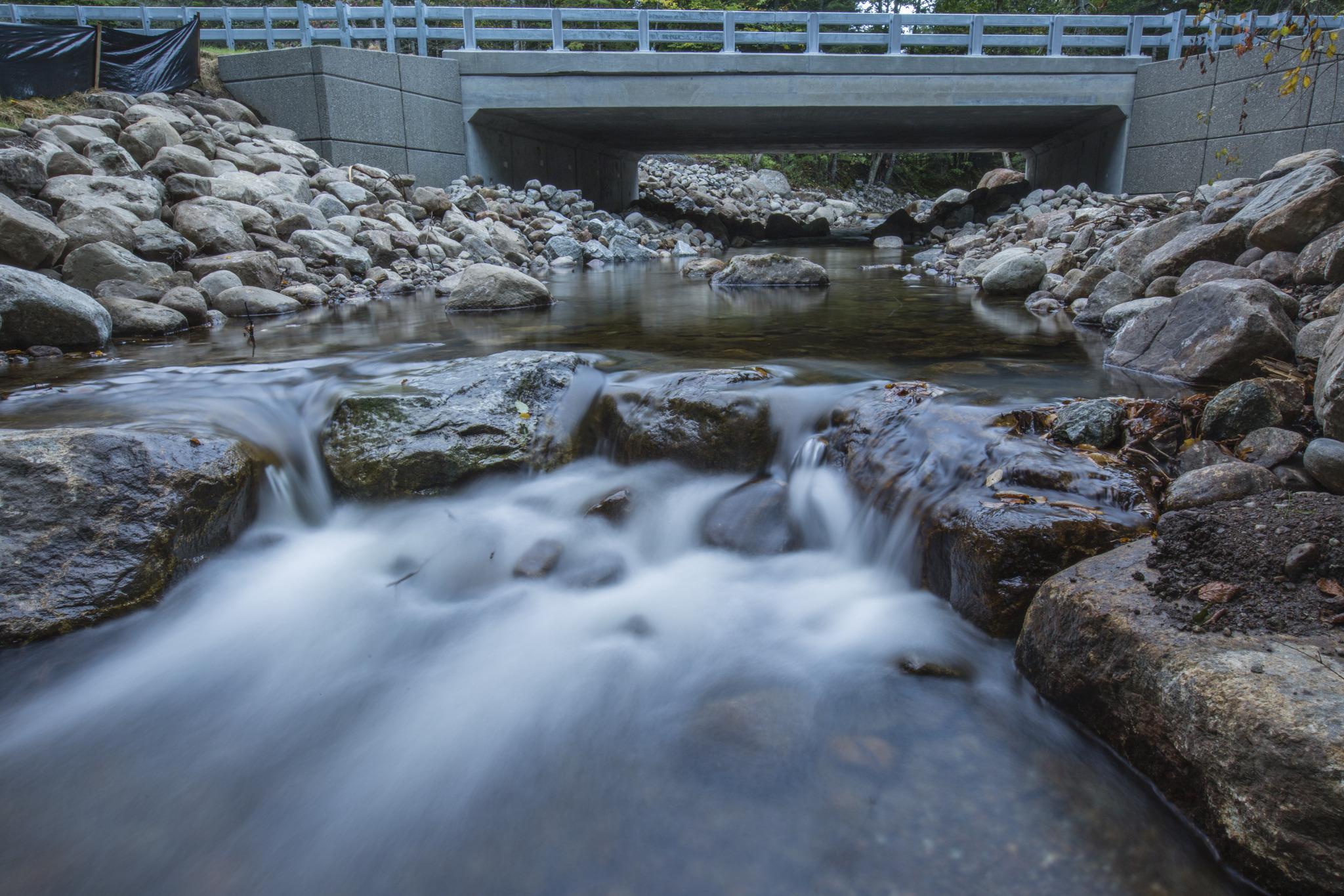 New bridge at Roaring Brook