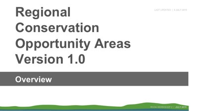 Regional Conservation Opportunity Areas Version 1.0